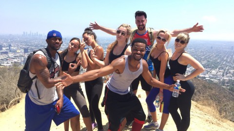 Hiking at Runyon with friends