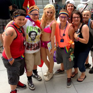 Katja Glieson with fans after performance Capital Pride DC
